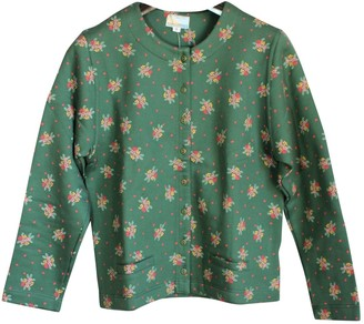 Green Cotton Non Signe / Unsigned Knitwear for Women Vintage