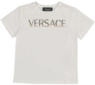 Versace Kids Logo stretch-cotton T-shirt