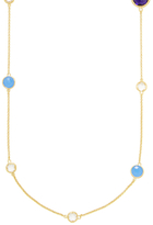 Rivka Friedman Alternating Shape Round Station Gemstone Station Necklace