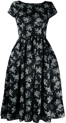 Dolce & Gabbana Floral-Print Mid-Length Dress