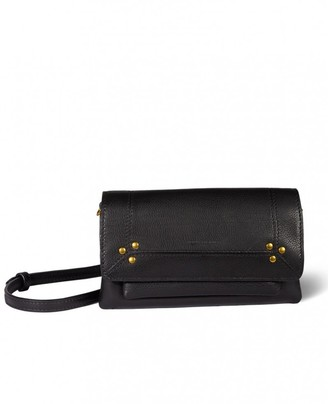 Jerome Dreyfuss Charly Small Bag in Noir Brass Calfskin