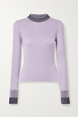 Maison Margiela Ribbed Cotton-blend Sweater - Lavender
