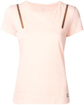 EA7 Emporio Armani Ventus stripe applique T-shirt