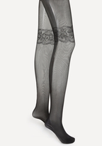 Bebe Lace Garter Tights