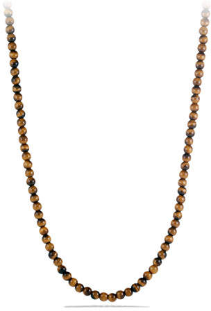 David Yurman Spiritual Bead Necklace with Tiger's Eye