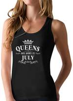 TeeStars - Birthday Gift for Women - QUEENS Are Born In July Racerback Tank Top