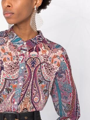 BA&SH Paisley-Print Shirt