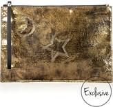McQ by Alexander McQueen Crackle Foil Clutch Bag
