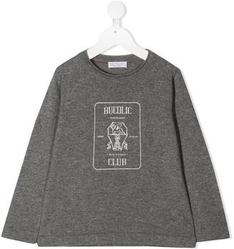 BRUNELLO CUCINELLI KIDS Graphic Print Cashmere Sweatshirt