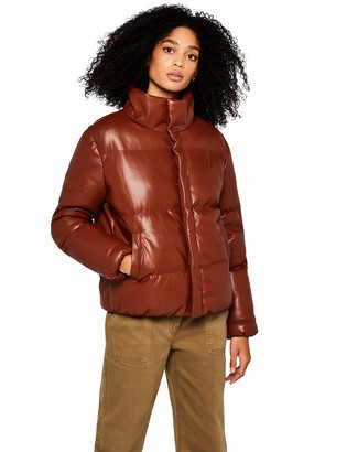 Find. Amazon Brand Women's Faux Leather Padded Jacket