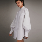 Burberry Voluminous-sleeve Cotton Shirt Dress