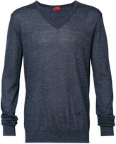 Isaia v-neck sweater - men - Silk/Hemp/Cashmere - S