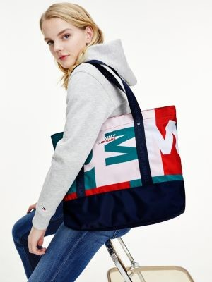 Tommy Hilfiger Statement Colour-Blocked Logo Tote