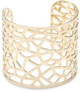 A.V. Max Spider Web -Plated Cuff Bracelet