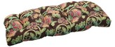 Pillow Perfect Sunbrella® Vagabond Outdoor Wicker Loveseat Cushion - Brown/Green