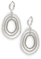 Judith Jack Women's Orbital Crystal Drop Earrings