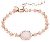 Meira T Women's Opal & Diamond Beaded Bracelet