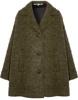 McQ Caban Oversized Wool-blend Bouclé Coat - Army green