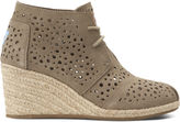 Toms Taupe Moroccan Cutout Women's Desert Wedges