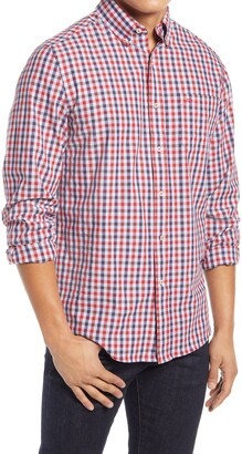 Southern Tide Channel Marker Gingham Check Button-Up Shirt