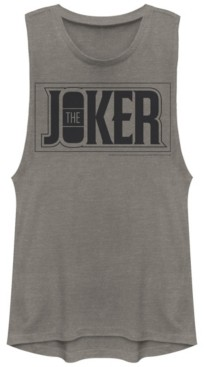 Fifth Sun Dc Batman The Joker Text Box Festival Muscle Women's Tank