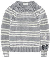 Moncler Striped wool sweater with patches