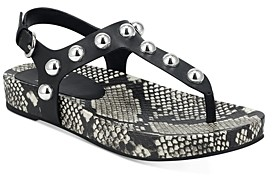 Marc Fisher Women's Lindie Studded T-Strap Platform Sandals