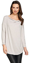 H by Halston Essentials Cowl Neck 3/4 Sleeve Knit Top