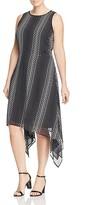 MICHAEL Michael Kors Dot Print Asymmetric Dress