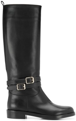 Gianvito Rossi Buckle Detail Boots