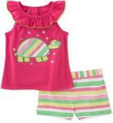 Kids Headquarters 2-Pc. Turtle Top & Shorts Set, Baby Girls (0-24 months)