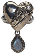 Alexander McQueen Silver Heart Locket Ring