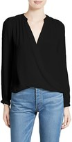 Rebecca Taylor Women's Danielle Faux Wrap Silk Blouse