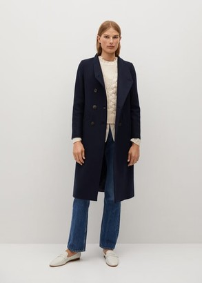 MANGO Manteco wool double-breasted coat