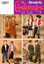 Simplicity Sewing Pattern 3997 Child Costumes