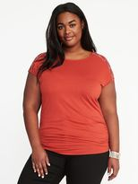 Old Navy Embroidered-Yoke Plus-Size Jersey Top