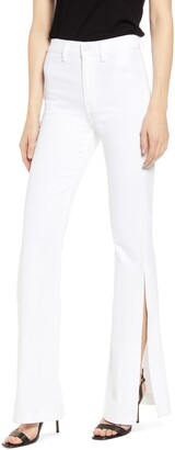 7 For All Mankind High Waist Slit Flare Jeans