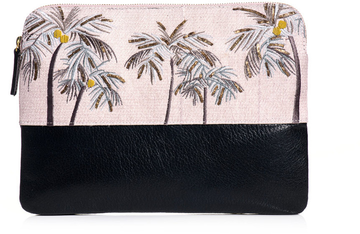 Lizzie Fortunato Safari palm tree clutch