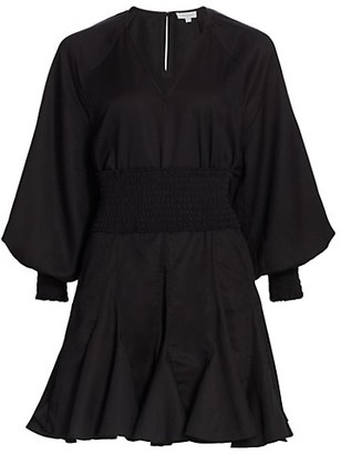 Rhode Resort Olivia Blouson-Sleeve Dress