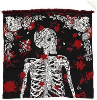 Alexander McQueen Skeleton Printed Scarf