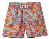 Stella Cove Toddler Boy's Palm Tree Swim Trunks