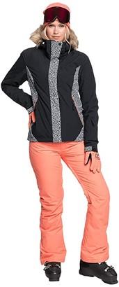 Roxy Jet Ski Snow Jacket (True Black Pop Animal) Women's Coat