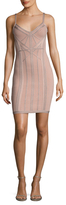 Herve Leger Seamed Intarsia Sheath Dress