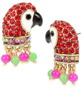 Betsey Johnson Tropical Punch Parrot Stud Earrings