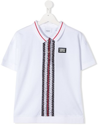 BURBERRY KIDS Short Sleeved Polo Top