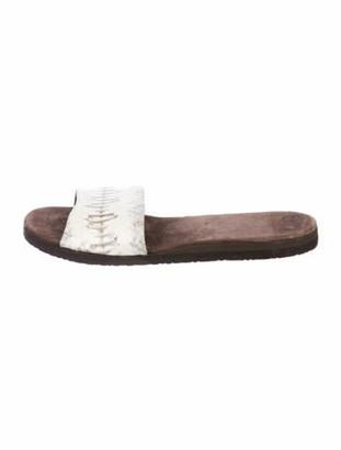 Rhonda Ochs Snakeskin Slide Sandals