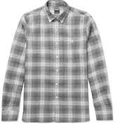 Todd Snyder Slim-Fit Button-Down Collar Checked Linen Shirt