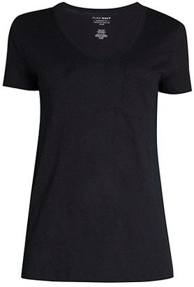 Pure Navy Everyday-Fit Roll-Sleeve T-Shirt