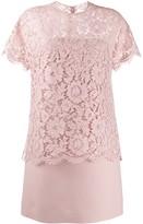 Valentino lace layered short dress