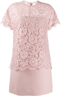 Valentino lace layered short dress